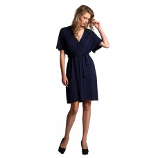 Cape Sleeve Wrap Dress