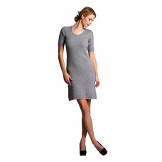 Short Sleeve Cable Wool Dress