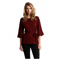 Dolman Sleeve Wrap Wool Top