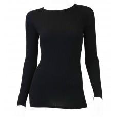 Wool Basic Rib Sweater