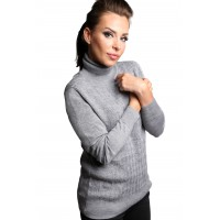 Turtle Neck Diamond Shape Knitting Pollover Sweater