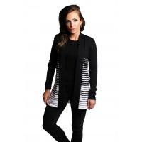 100% Wool Zebra Open Cardigan
