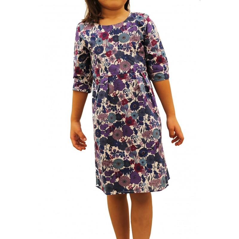 Floral Three Quarter Sleeve Dress