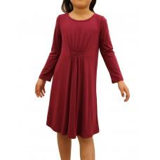 Cinched Waist Jersey Dress