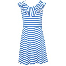 Ruffled Stripe Jersey Dress