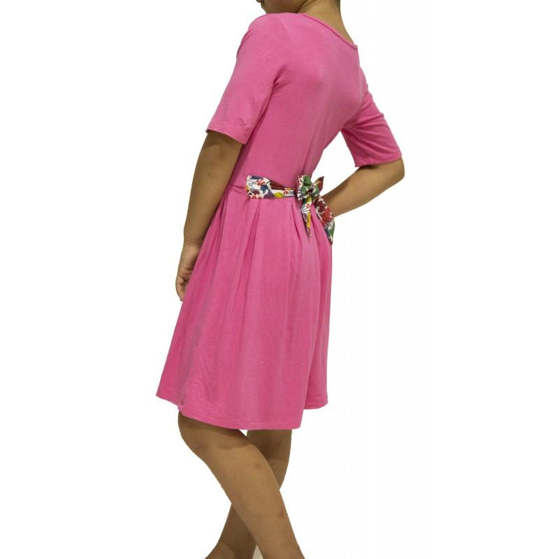 Back Bow Jersey Knit Dress