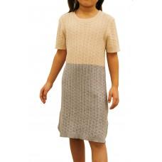 Color Block Cable Dress