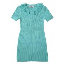 Crochet Collar Sweater Dress