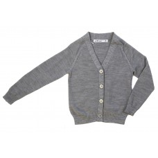 Girl's Wool V Neck Cardigan