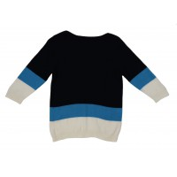 Girl's 100% Wool Color Block Pullover Sweater