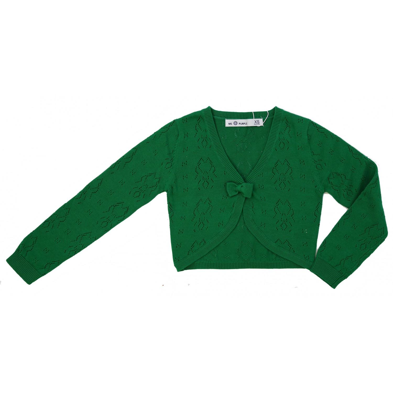 100% Cotton Crochet Bow Shrug
