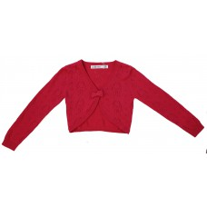 Girls' 100% Cotton Crochet Bow Shrug