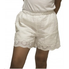 Cotton Eyelet Pull-On Shorts
