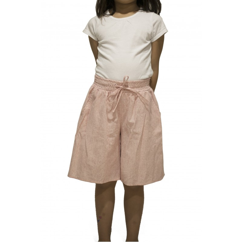 Cotton Pull-On Wide leg Culottes